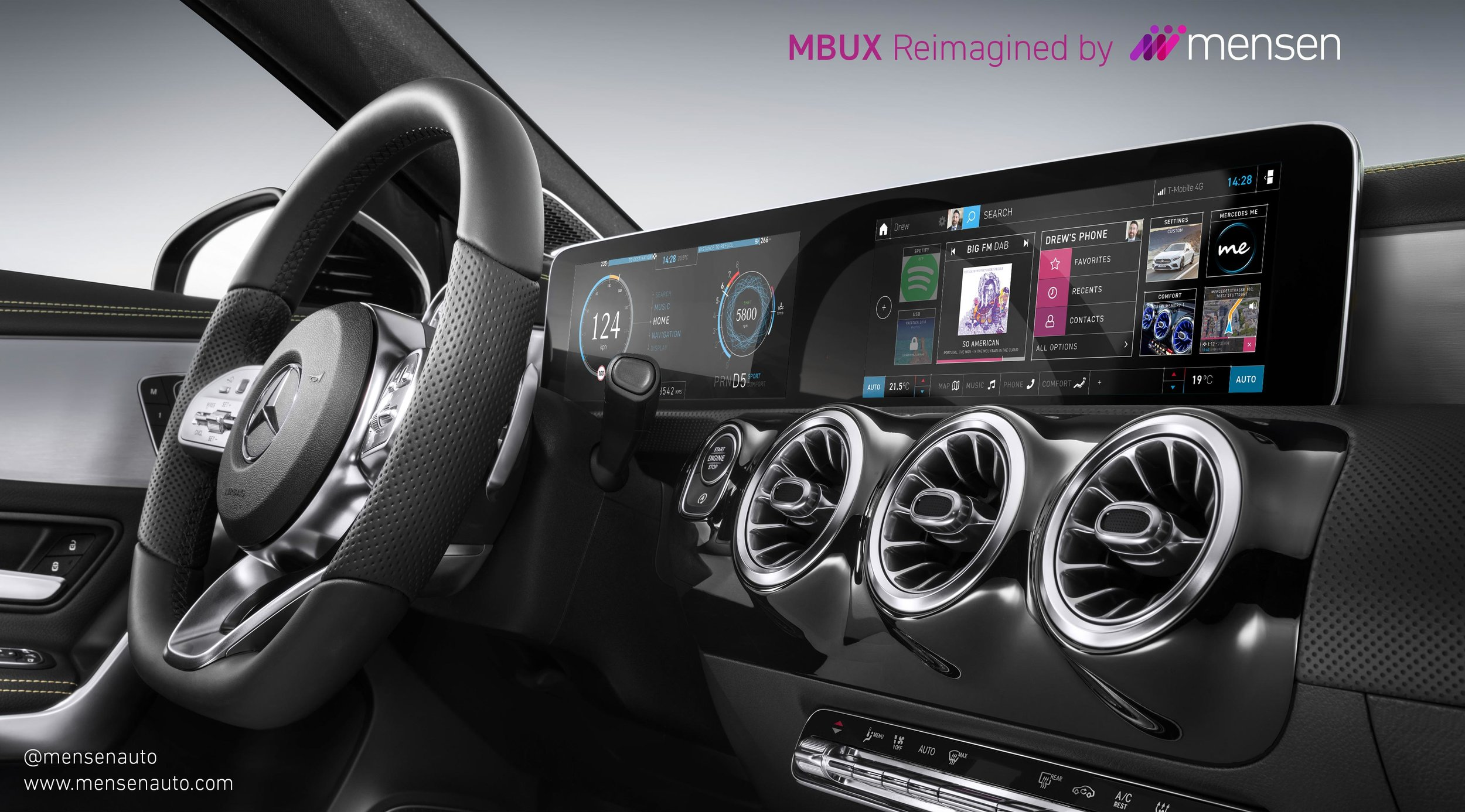 Our reimagined MBUX in the 2018 A-Class interior