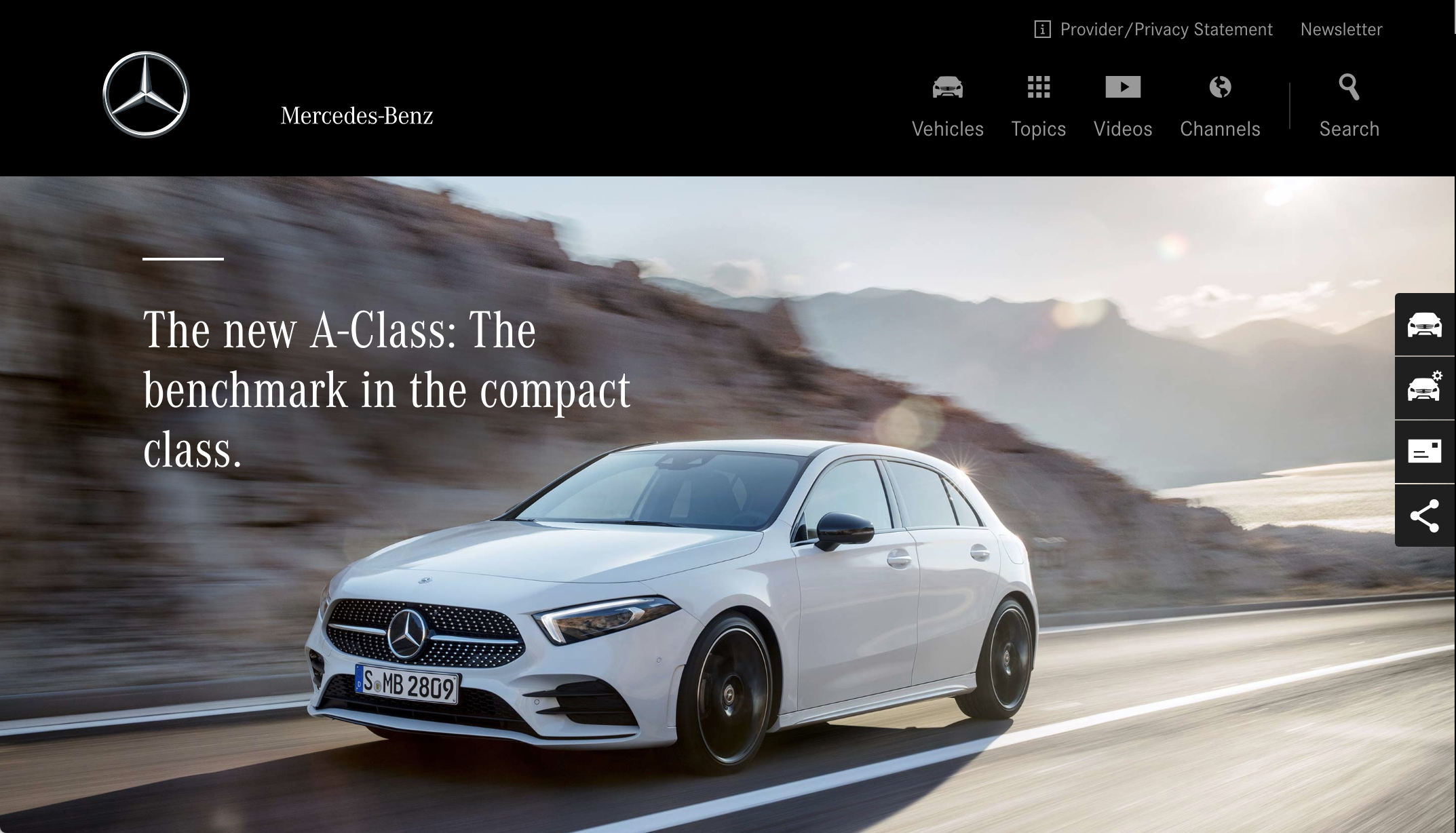 We were looking to capture the spirit of Mercedes' own corporate look and feel with our design (like the A-Class website seen here), something the existing MBUX doesn't do effectively