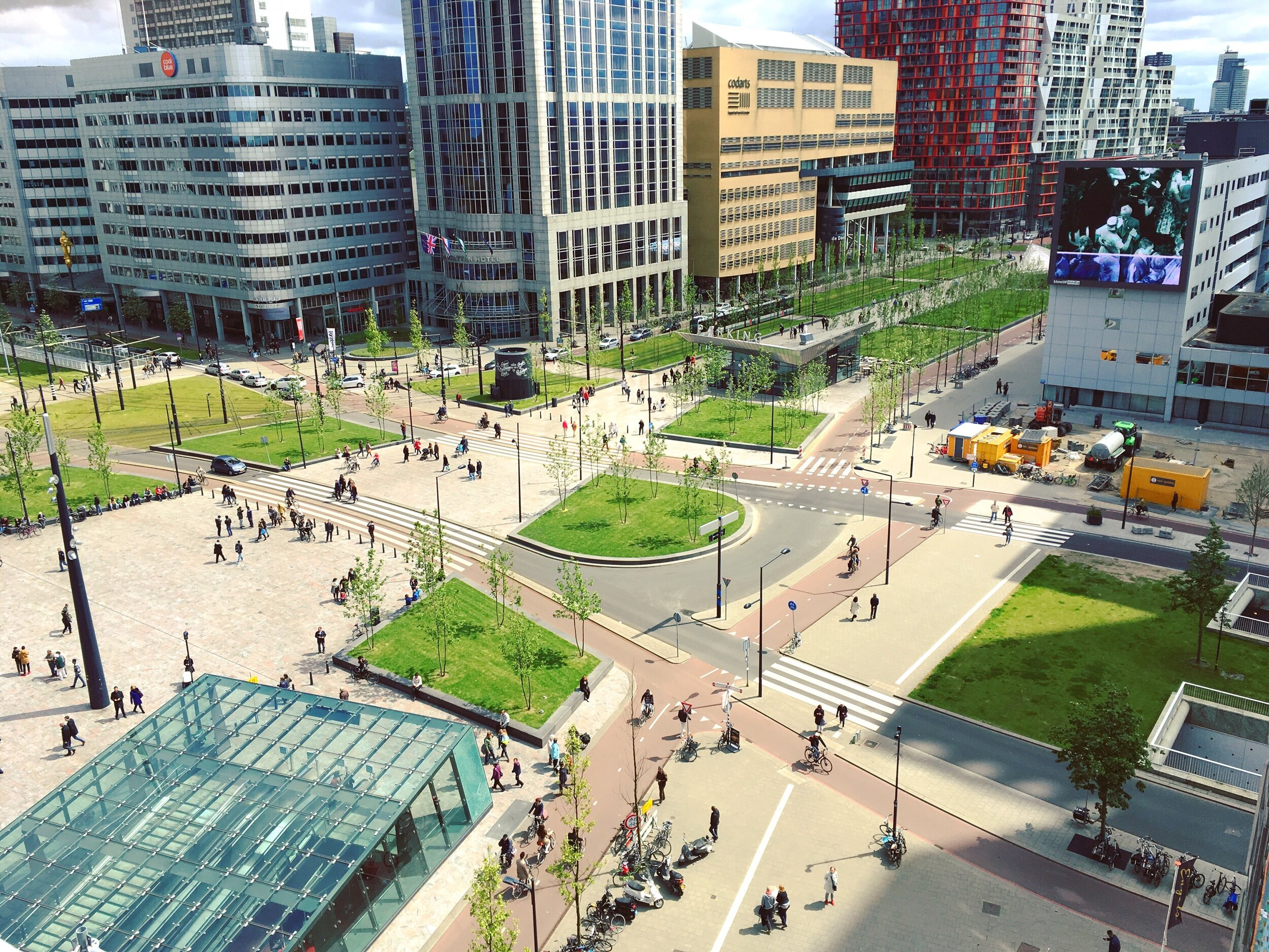 The area in front of Rotterdam's modern Central Station illustrate the complexities of infrastructure in Dutch city centers