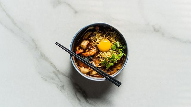 A hearty bowl of seafood kimchi ramen loaded with flavor perfectly made to satisfy your belly. • #twentyfifth_jakarta