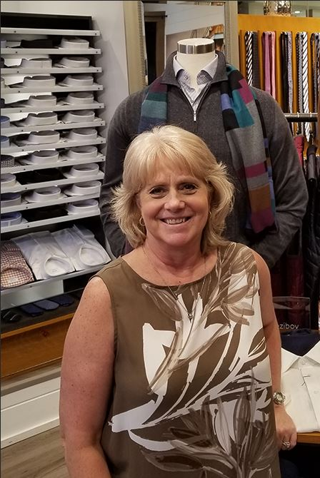 Janet Stichtenoth   The magic behind all the beautiful looks at Hellman Clothiers and Blaine's Fine Men's Apparel is our awesome Janet!  She understands Men's fashion like no one else and brings our mannequins and backdrops to life. We love what she does and the smiles and enthusiasm are contagious to all. You rock Janet!