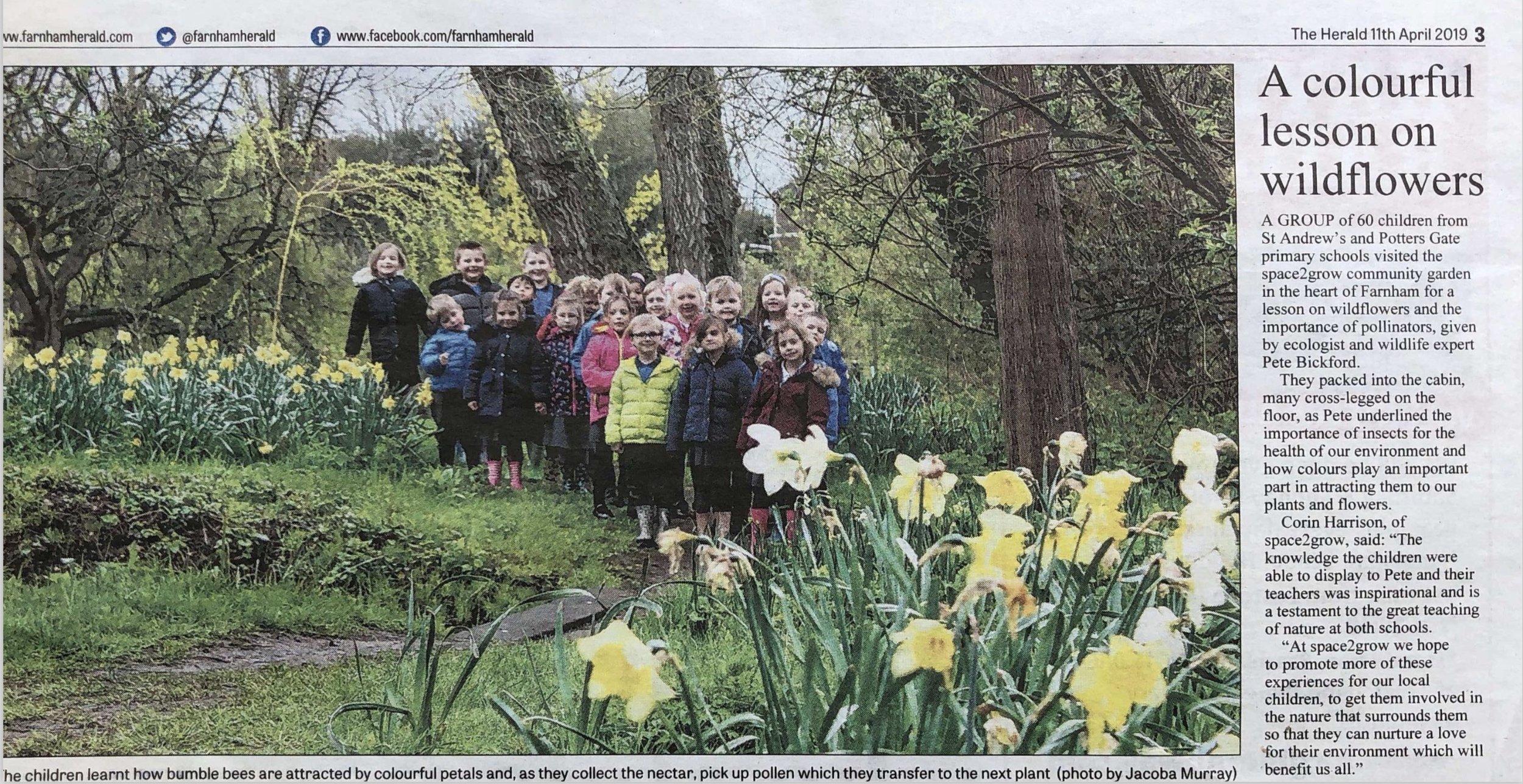 s2g Children Visit - Herald Article - 11.04.19.jpg