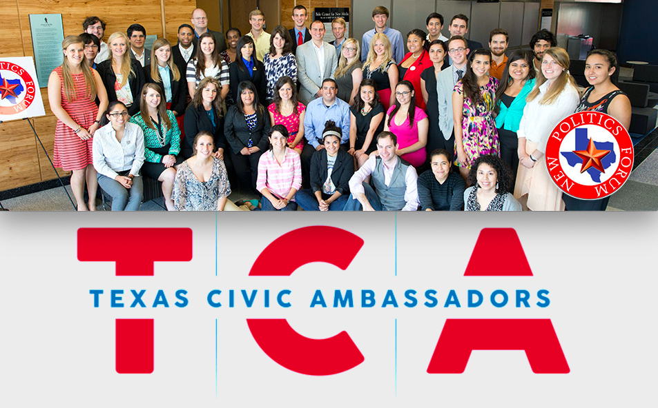 "Texas Civic Ambassadors Program - The Texas Civic Ambassadors Program (TCA) by the Annette Strauss Institute for Civic Life gives 30 college students the chance to spend a year developing civic knowledge and leadership skills. But in addition to helping develop the next generation of civic leaders, the project also has impact at the local level; each participant must identify a project they plan to lead in their hometown or campus during the year, and execute it. TCA does specific outreach to ""civic deserts"" in the state, and provides a model to other states looking to support college-age leaders as well as improve communities."