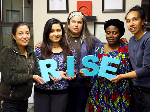 RISE Colorado - Aurora, Colorado is one of the most diverse school districts in the country, with 143 languages spoken. Yet those most involved in the barriers to education, like immigrants and refugees, have been left out of the education reform conversation. RISE educates parents on the opportunity gap, empowers them with leadership development to become policy architects and decision makers, and works with them to engage and organize other parents and school officials. RISE Colorado has no agenda or angle it asks families to support. Parents are the decision makers, and they work together to find ways to support their children's academic achievement. They've also developed rubrics and materials for other communities to learn from.