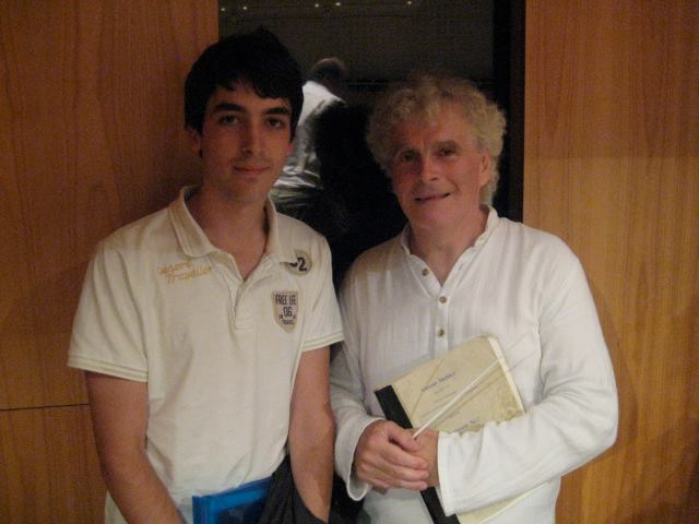 With Simon Rattle (Lucerne Festival Academy, 2011)