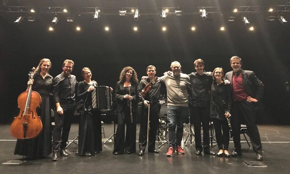 Fotografía tras el estreno de Gargantúa en Donostia (25-10-2017)