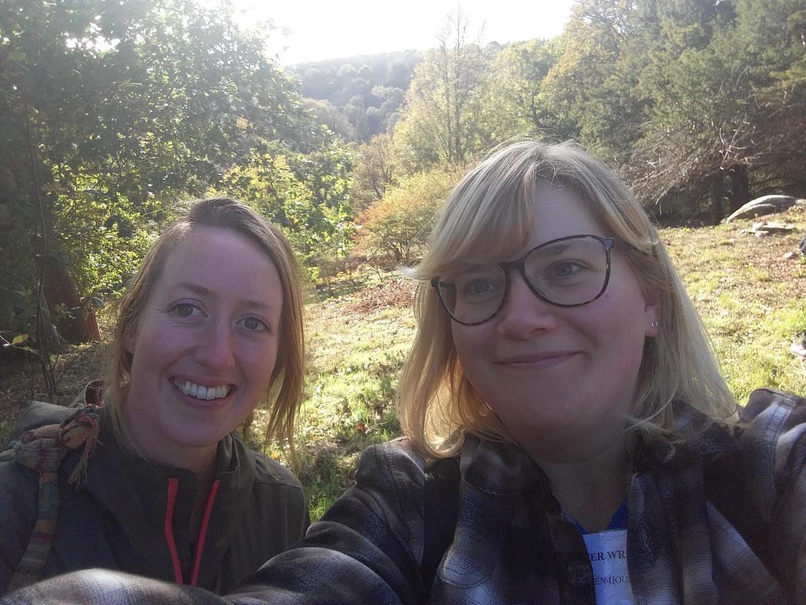 Cornish Jen (Left) and Scottish Jen (Right) visiting another garden last October. ©jwright