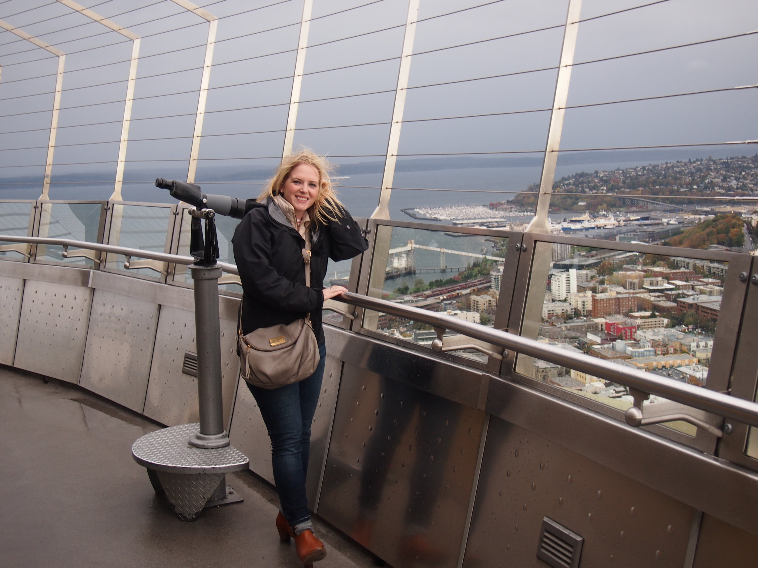 Looking into the future from the top of Seattle's Space Needle