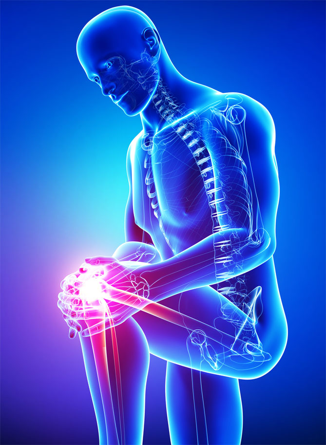 chiropractic patient with knee pain and extremity subluxation