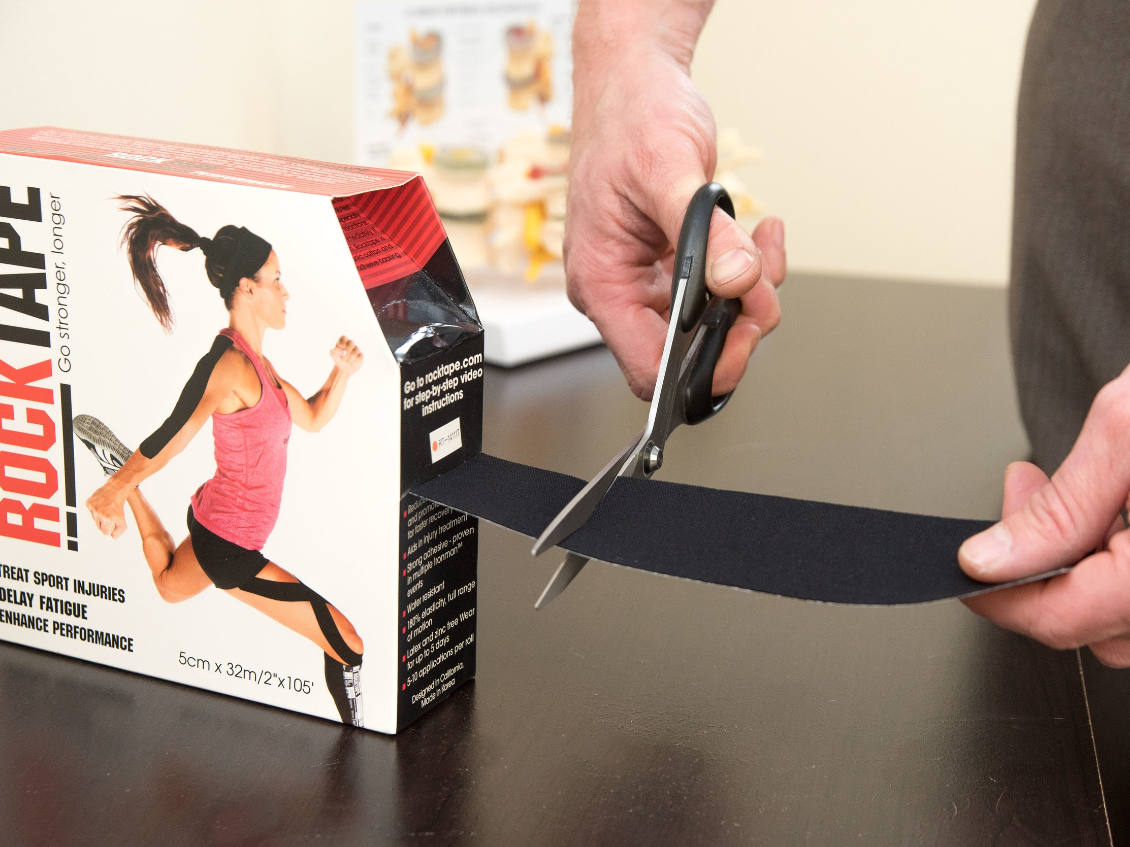 RockTape for injuries in Saratoga Springs chiropractic office