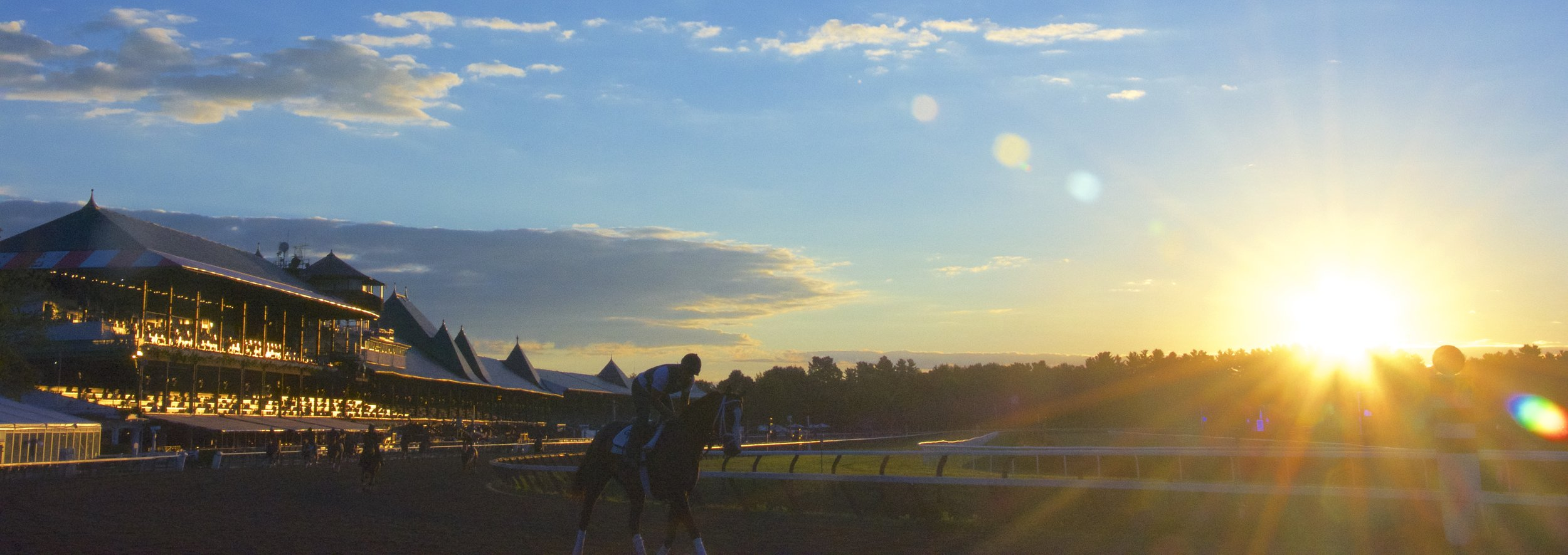 Saratoga Race Course in the morning.