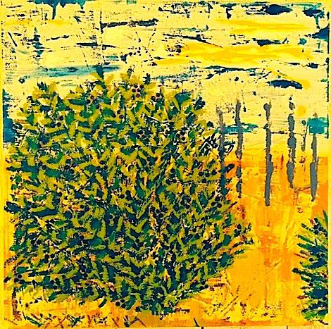 "Maidstone Beach Plum II - Mixed Media (24 x 24"")"