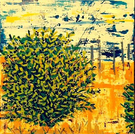 "Maidstone Beach Plum I - Mixed Media (24 x 24"")"