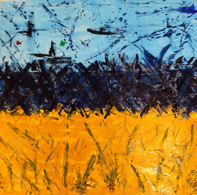 """Looking from Maidstone to Orient - Mixed Media (48 x 48"""")"""