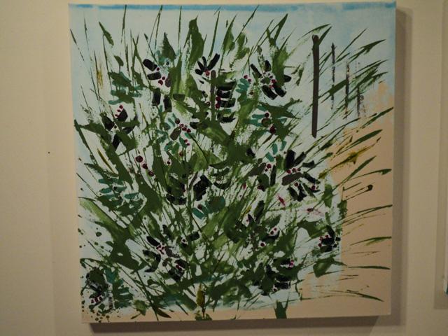"Maidstone Beach Plums - Mixed Media (24 x 24"")"