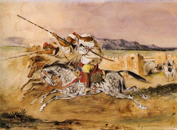 Eugène Delacroix, Fantasia Arabe (1833), Städelscher Museums, Germany.