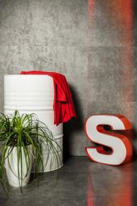 Betonhatású PVC háttér - Falra mágnesezhető és padlóra fektethető