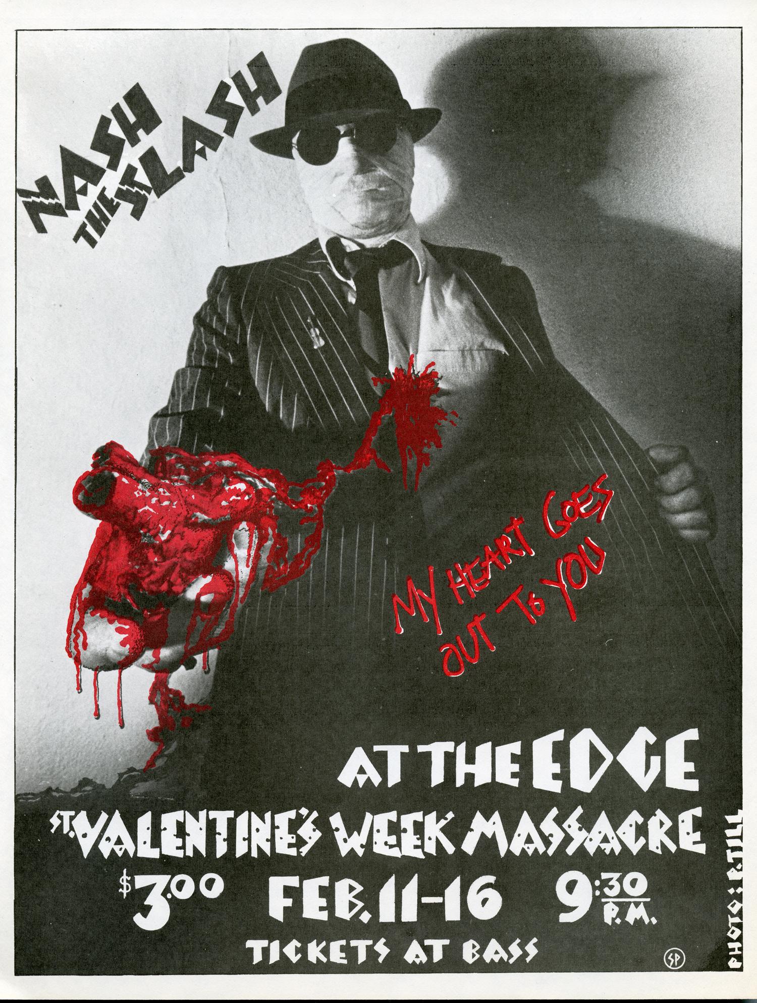 St. Valentine's Week Massacre, design by Nash and photographer Paul Till, 1980.