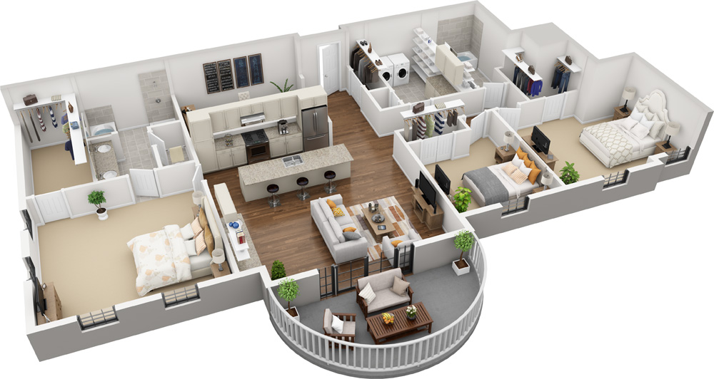 Unit G - 3 Bed | 2 Bath1809 -2060 Sq. Ft.Starting at $3,350.00