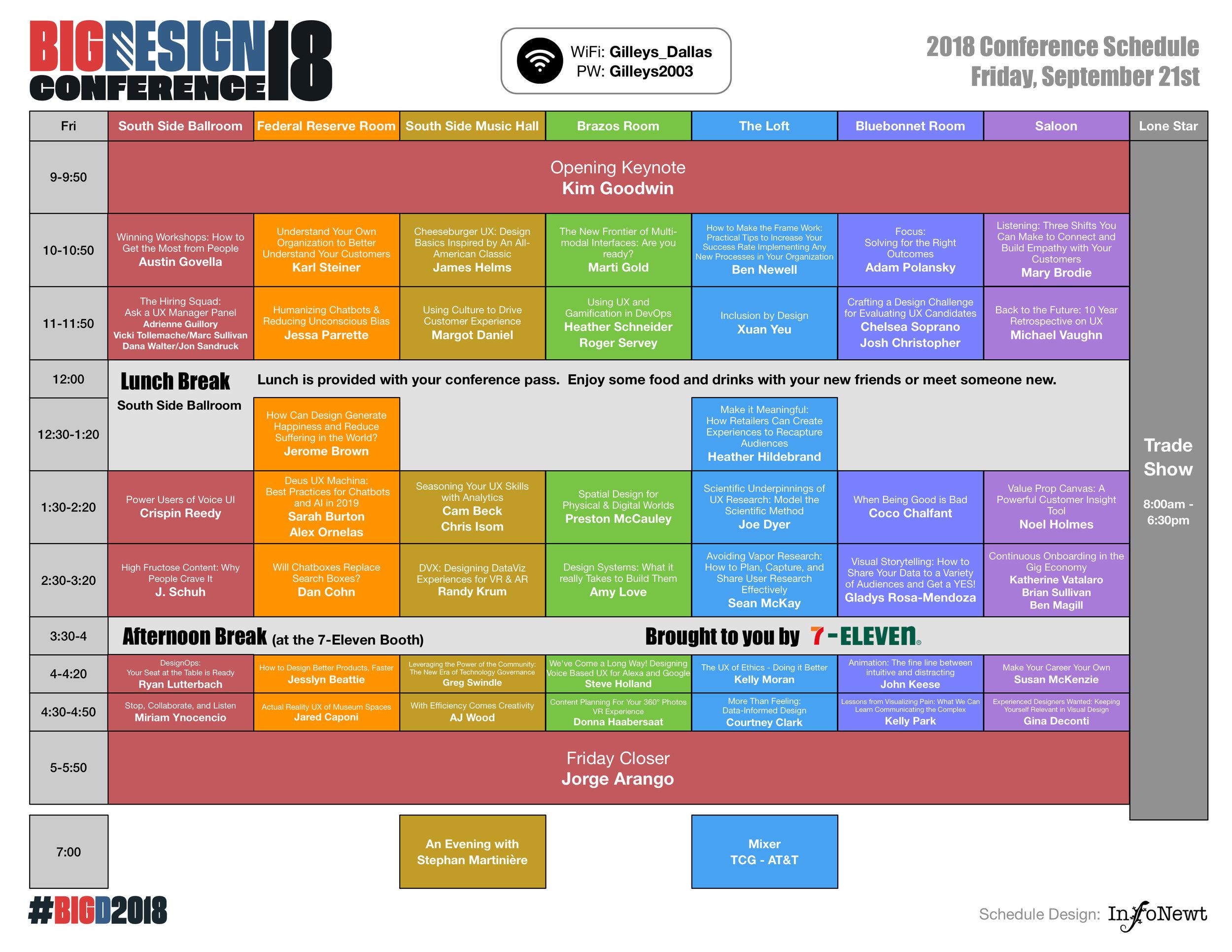 Big Design Conference 2018 Schedule
