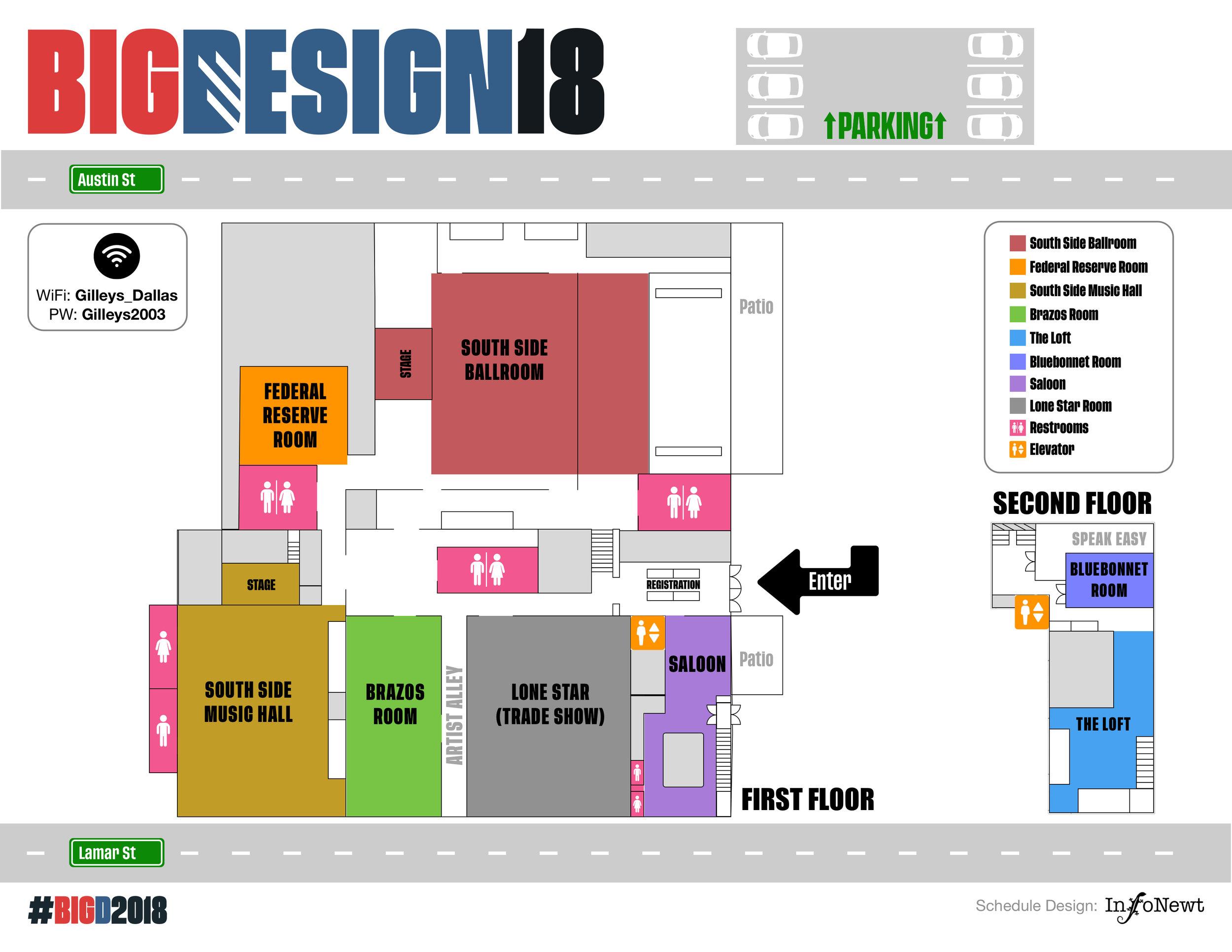 Big Design Conference 2018 Map