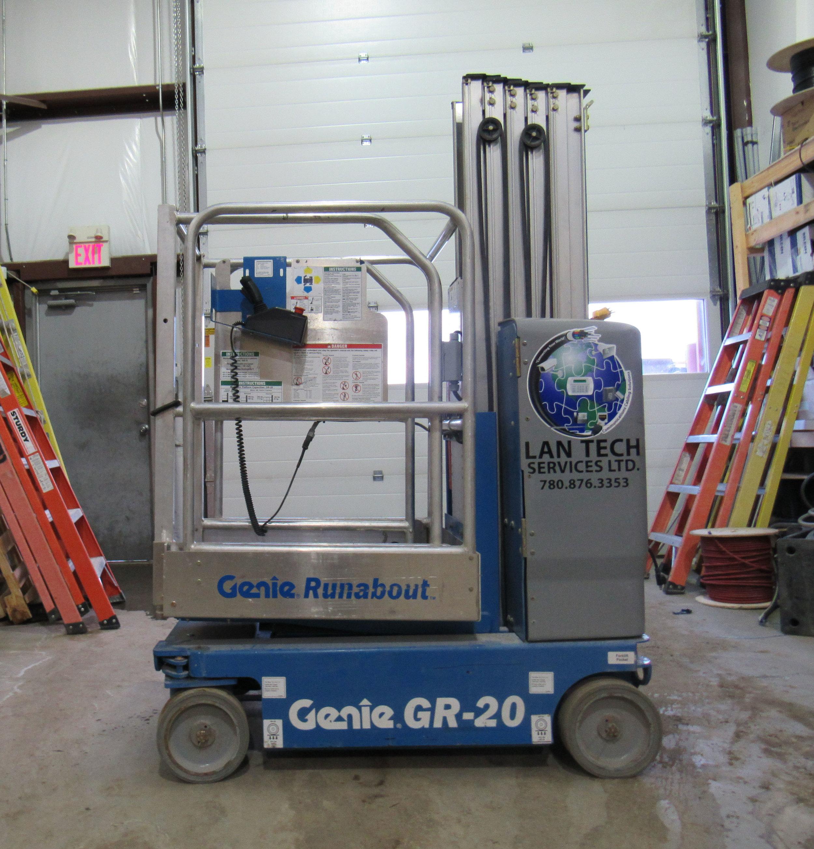Lan Tech Services Grande Prairie Alberta Bucket Truck Commercial Single Man Scissor Lift Equipment Rentals