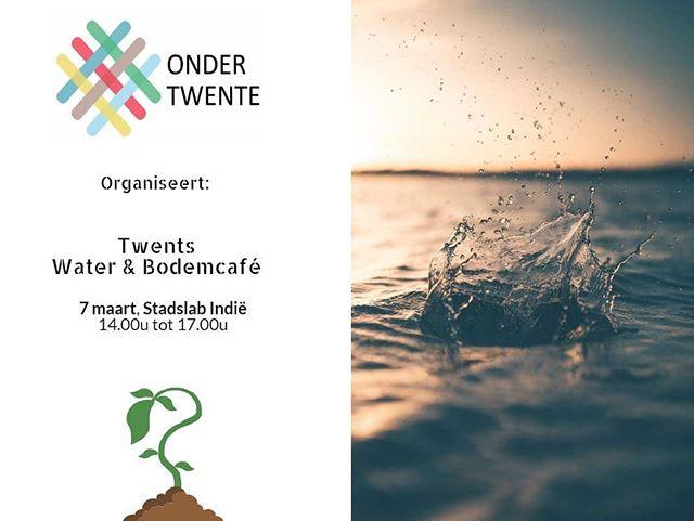 Mis 'm niet! 7 maart organiseert Onder Twente het Twents Water & Bodemcafé! Reserveer hem alvast in de agenda. Meer info: www.ondertwente.nl/activiteiten #bodem #water #ondergrond #borrel #netwerk