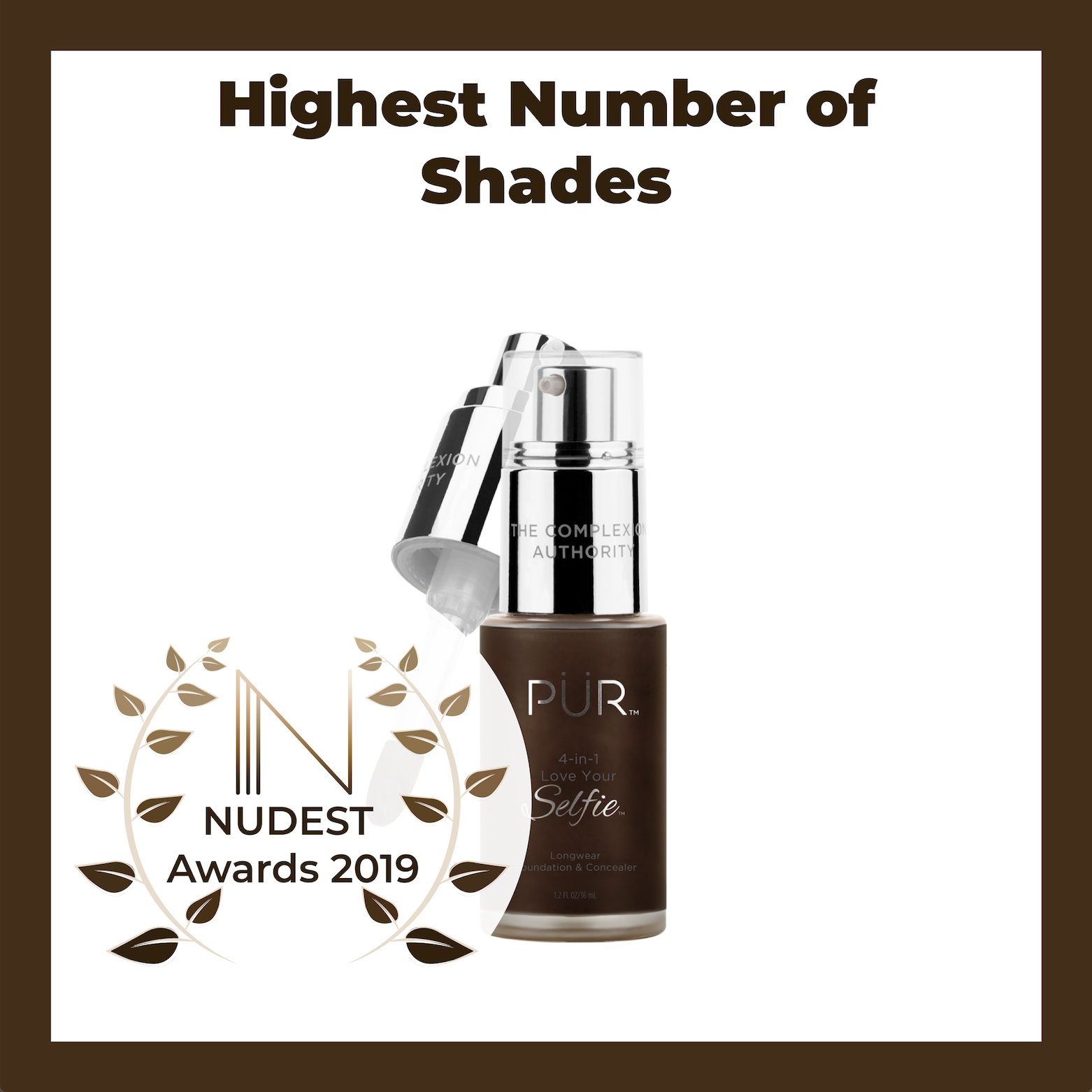 NUDEST Awards PUR 4-in-1 foundation