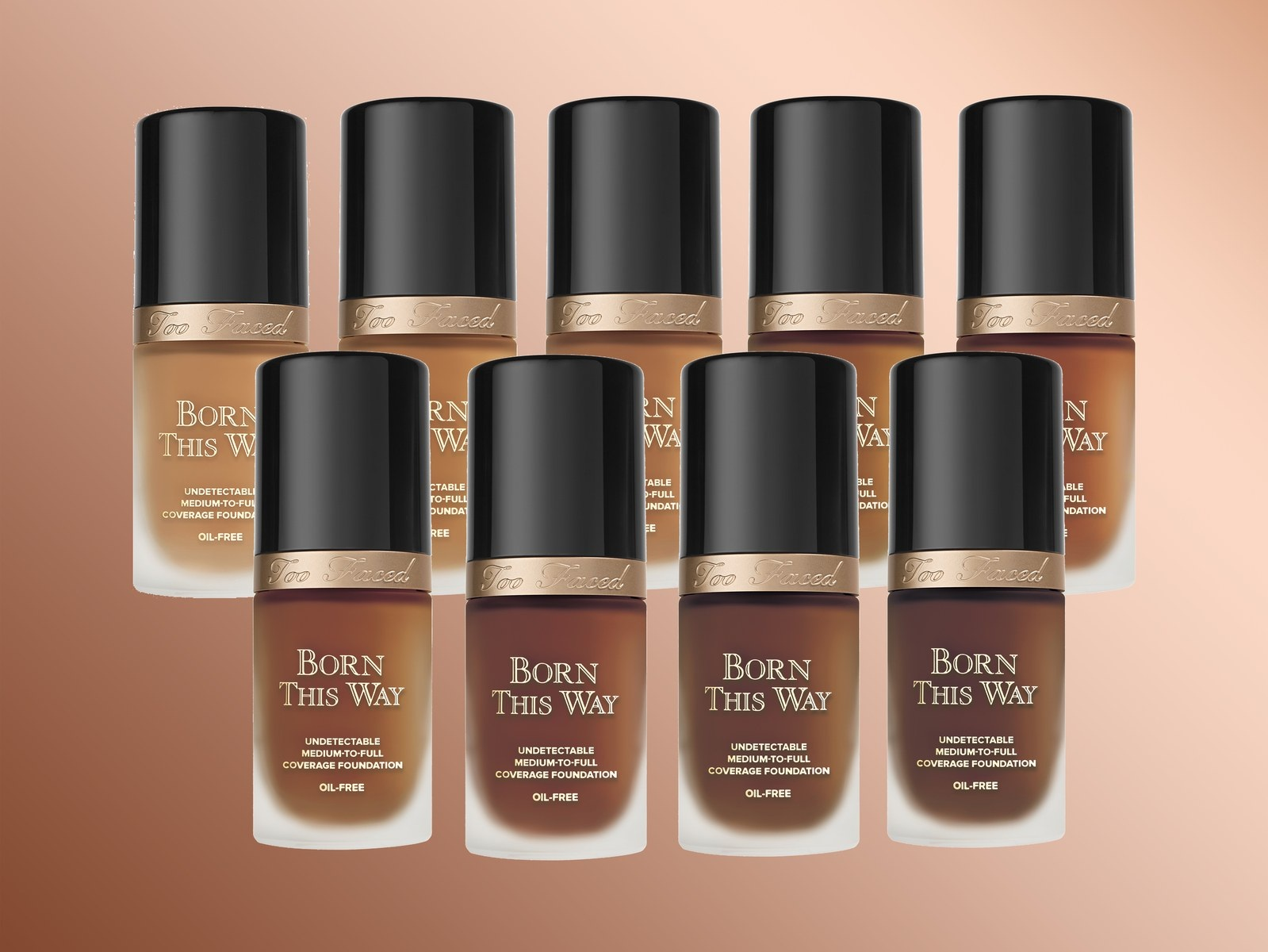 Too Faced Born This Way foundation in nine new shades developed in collaboration with Jackie Aina.