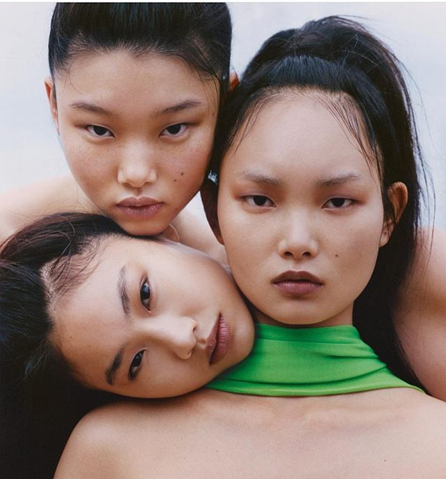 The best things come in threes �@hoooooyeony @ling.lingc @mulan_bae . . . . . . . . . . . . . #makeup #nudemakeup #models #beauty #fashion