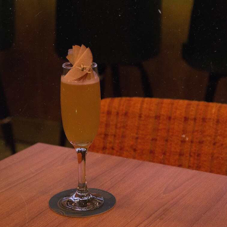 wet from the waist down - Cazadores Repasado, Poire Williams, Dry Cider, Lemon, Pear Caramel, Anise