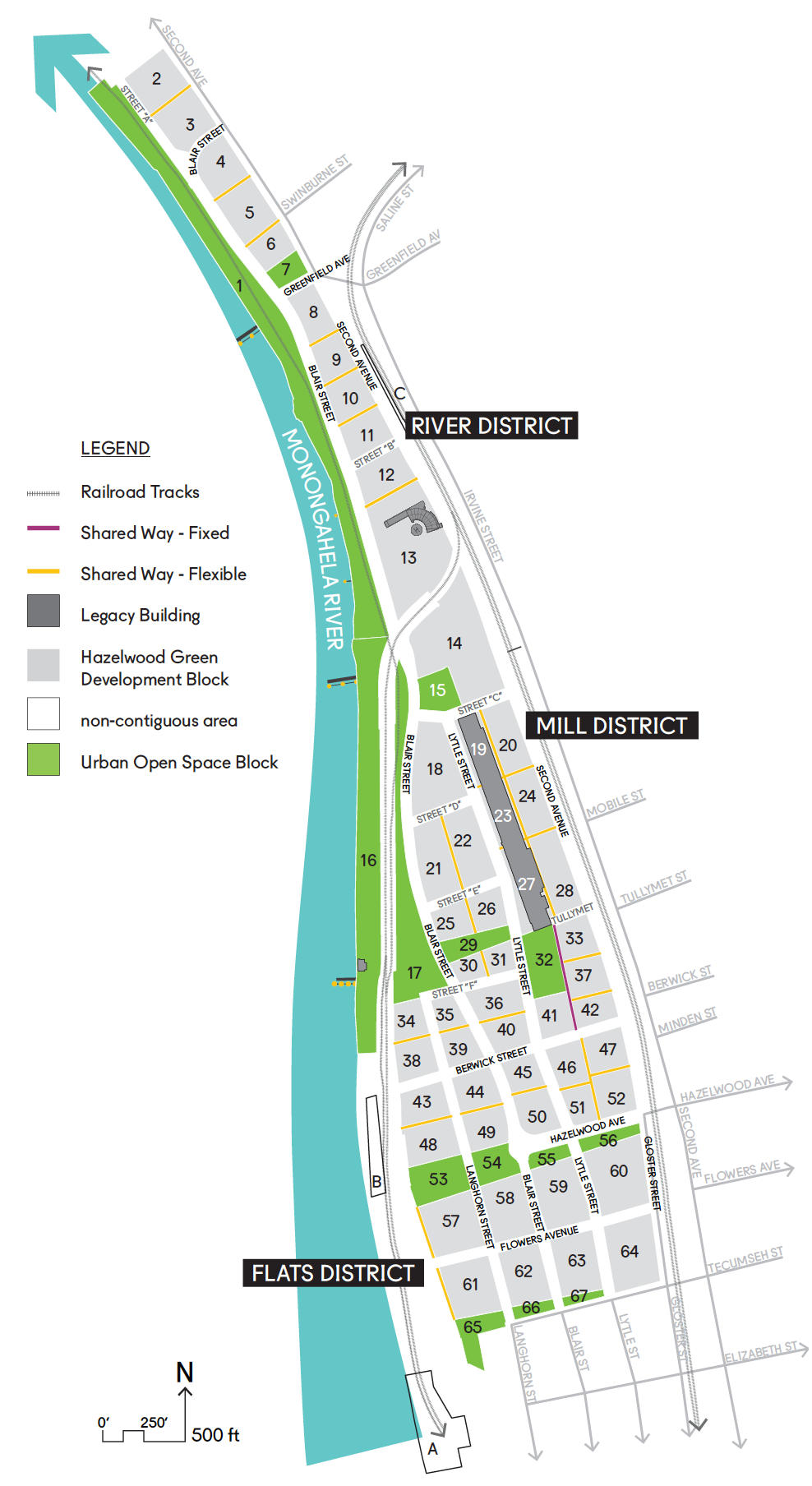 Site map of Hazelwood Green, 2018.