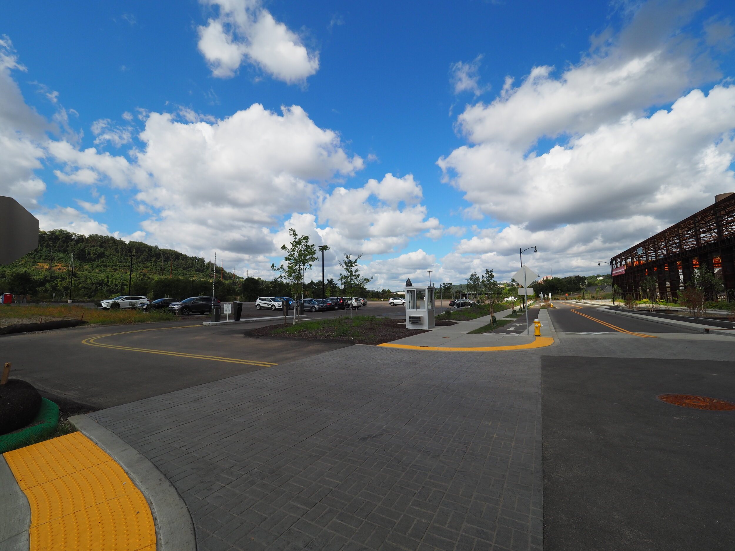 Parking Lot #1, entrance from Lytle Street.