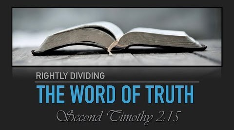 "Biblical Distinctions - 2 Timothy 2:15 tells us, ""Be diligent to present yourself approved to God, a worker who does not need to be ashamed, rightly dividing the word of truth."" This series will attempt to recognize some of the more common, but often ignored, divisions in Scripture."