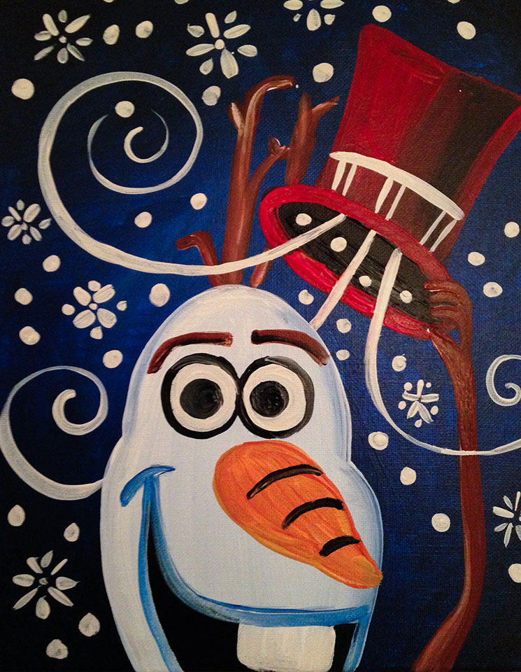 Snow Man Painting  -