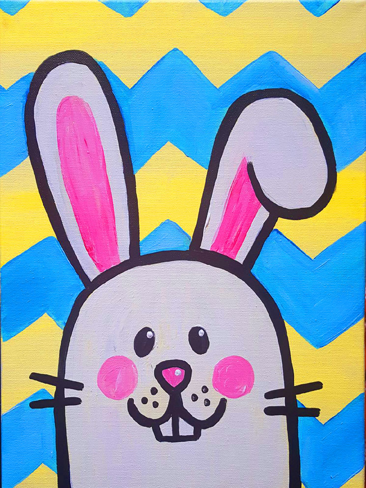 Easter Bunny Painting -