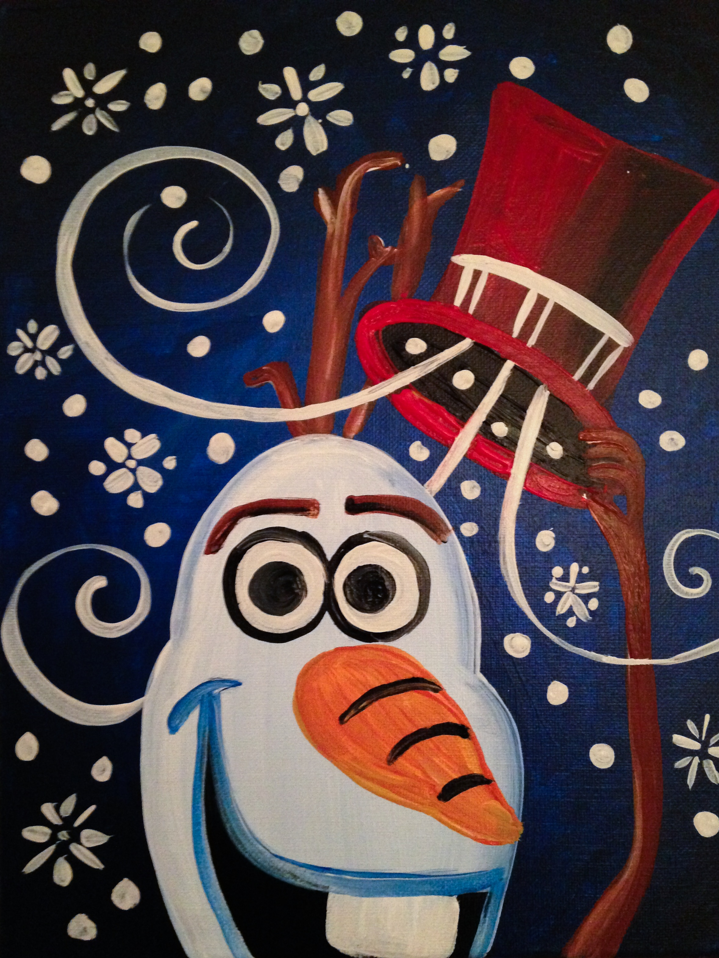 Magic Snowman - Open Play Starts at 5:30pm with the Painting at 6:00pm