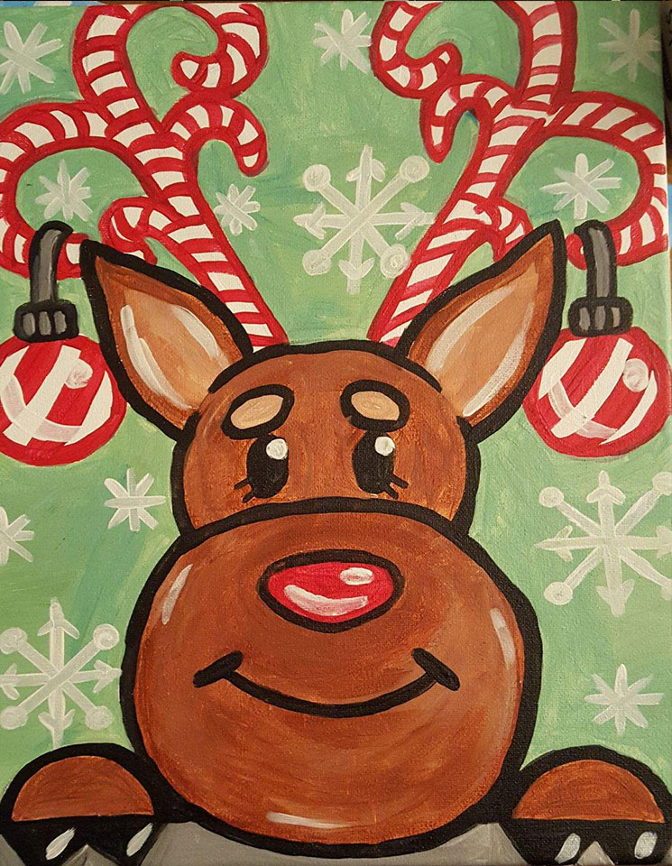Reindeer - Open Play Starts at 5:30pm with the Painting at 6:00pm