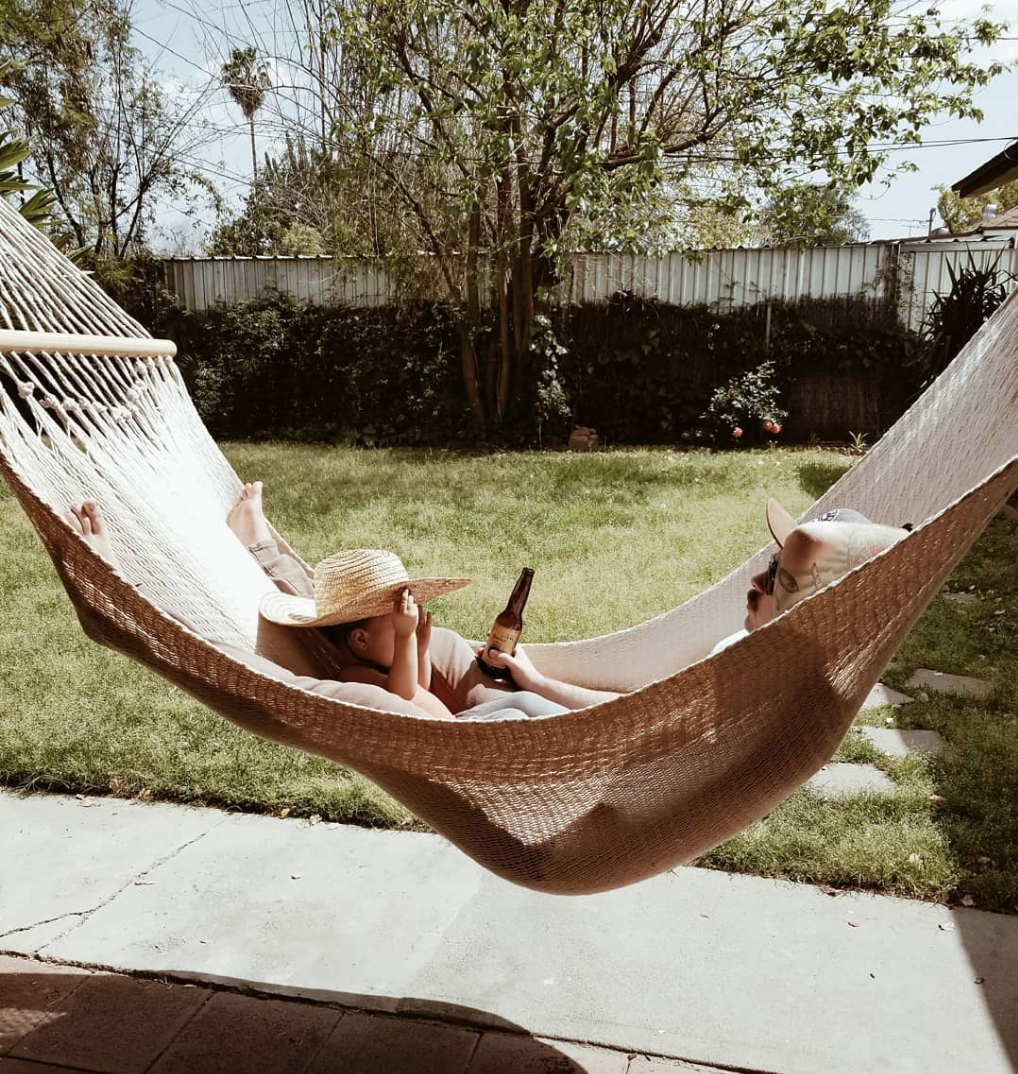 Father and child in a Vero Hammock
