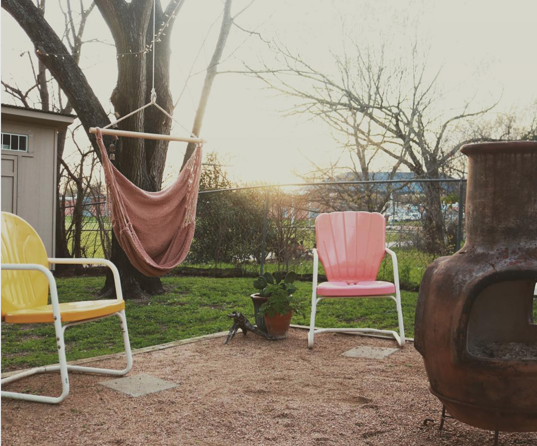 Alba swing by a fire