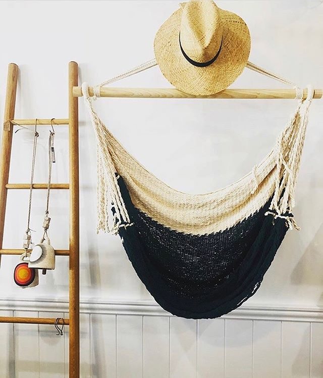 Summer vibes ✌️You can find a selection of our Alba swings down the shore @sunset_outpost ☀️ Stop by to check them out on your next beach trip!