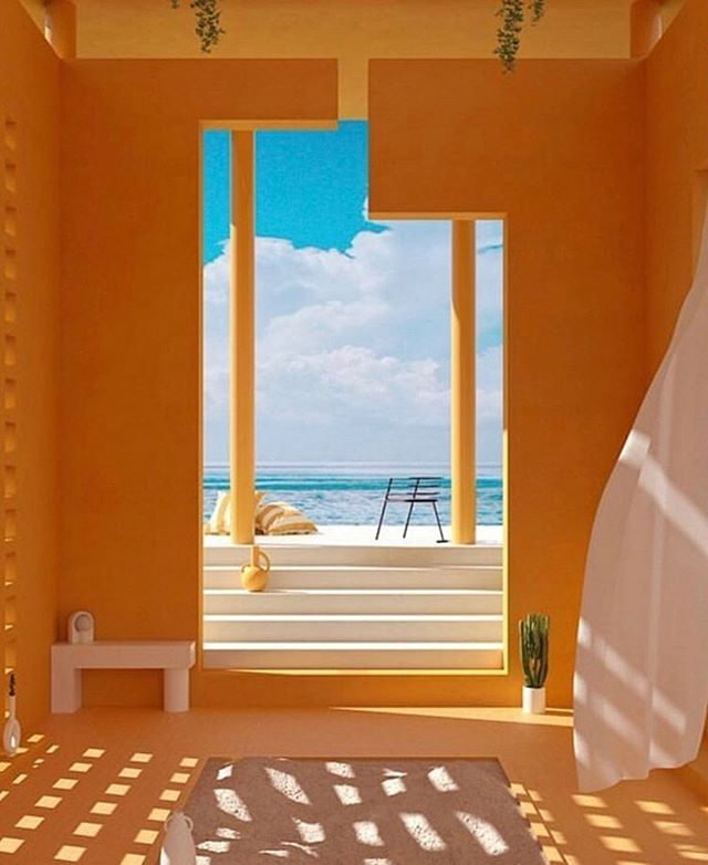Another surreal interior to crush on💛 🌙 Casa Carmen via @stefo_rotolo #inspiration