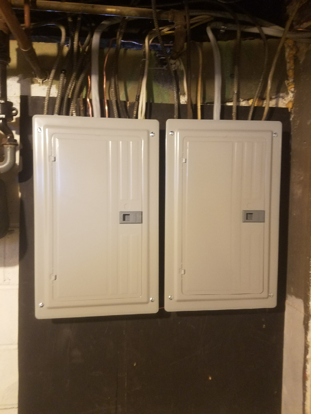 200 amp service - 20 circuit panel each (closed)
