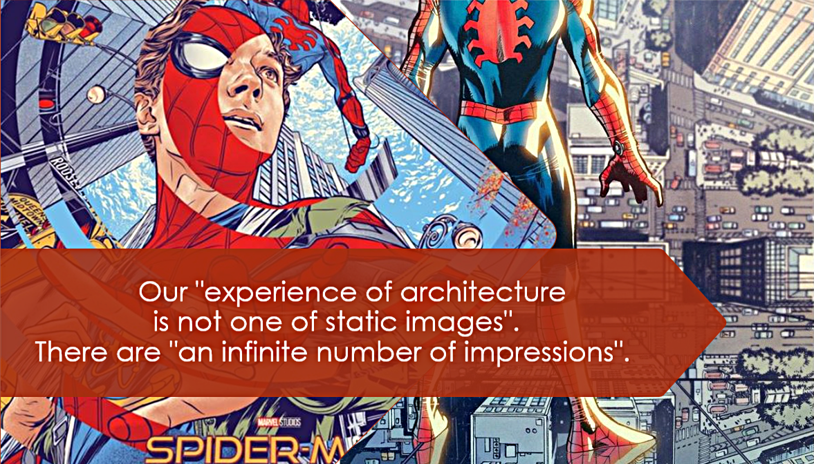 Quote from Kostof, Spiro, and Greg Castillo 10. Spider-Man art by Martin Ansin and Djibril Morisette-Phan.