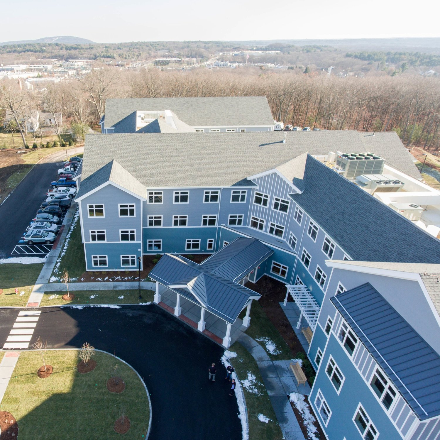 Benchmark Assisted Living Facility  Norwood, Massachusetts 79,000 sqft Assisted Living Facility Contractor: Callahan & Metro Walls, Inc.