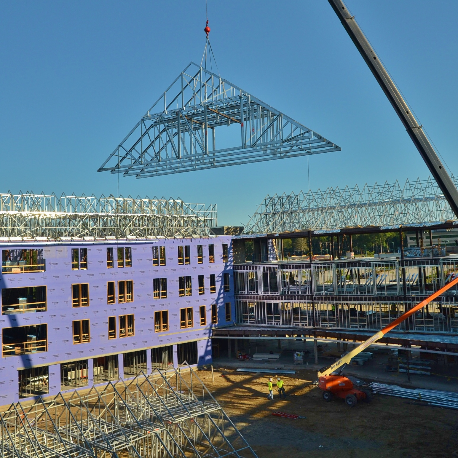 New England Institute of Technology  East Greenwich, Rhode Island Roof Trusses Contractor: Cranshaw Construction