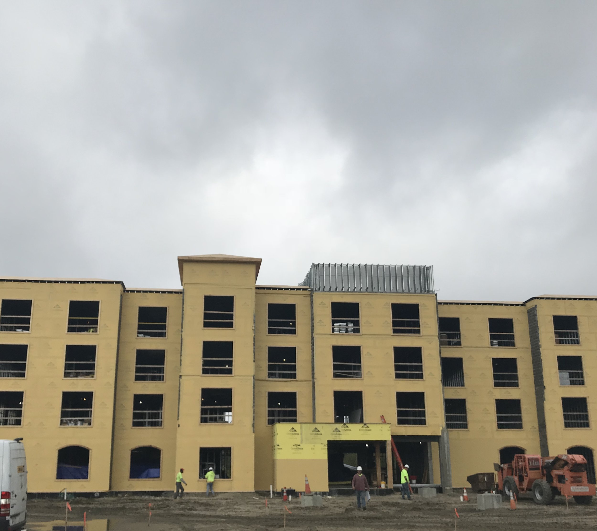 Fairfield Inn & Suites  South Kingston, RI CFS Roof Trusses Contractor: Baystate Drywall