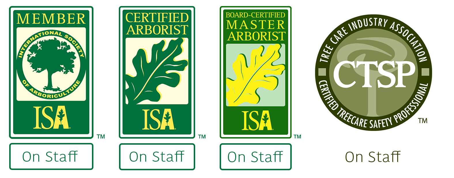 Russell Tree Experts Certifications