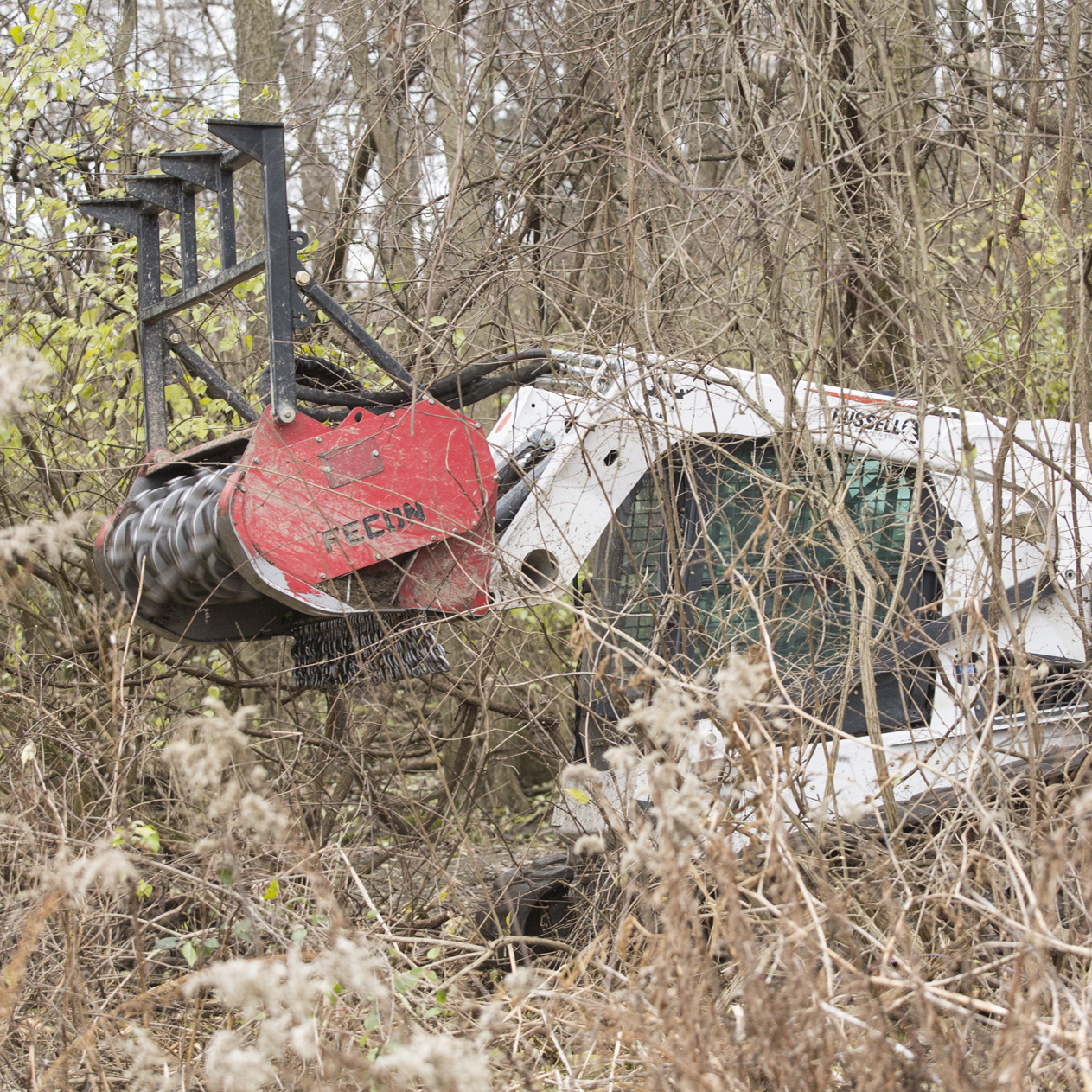 Forestry Mowers - Our high horsepower track loaders can be equipped with tools from forestry mulchers to hydraulic tree shears to grapple buckets saving labor costs and moving operators into FOPS and ROPS certified operators stations.