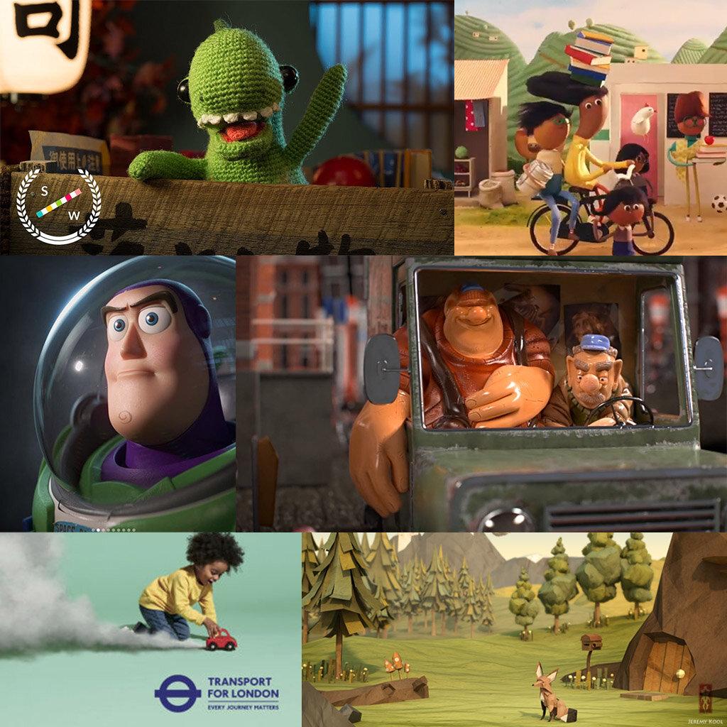 Lost and Found short:  https://www.youtube.com/watch?v=35i4zTky9pI  Passion Animation:  https://www.instagram.com/p/B0GozAjHsaB/?utm_source=ig_web_copy_link  Pixar:  https://www.instagram.com/p/BzL8L_Almof/?utm_source=ig_web_copy_link  Gracht short:  https://www.youtube.com/watch?v=dfaKU67vSNw  Transport for London campaign Jeremy Kool, The Paper Fox:  https://www.behance.net/gallery/2069658/The-Paper-Fox-Development